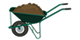 wheelbarrow with topsoil